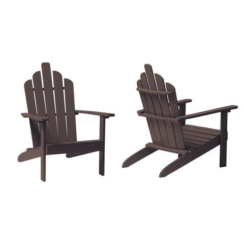 Outdoor Adirondack Wood Chairs (SET OF 2)