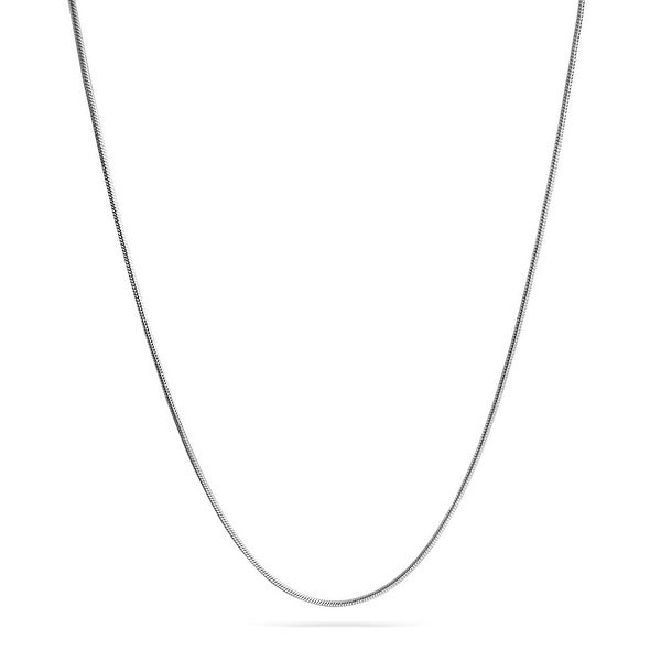 Amythyst Unisex Mens and Womens Thin 3mm Silver Tone Stainless Steel Cuban//Curb Link Chain//Necklace