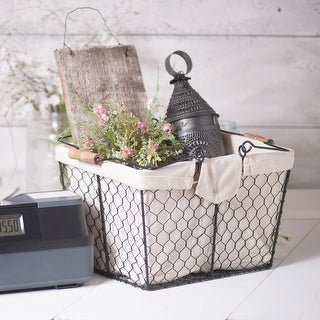Irvin's Country Tinware Wire Caddy with Liner in Smokey Black