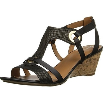 Naturalizer Womens Heston Open Toe Casual Platform Sandals Black Size 60