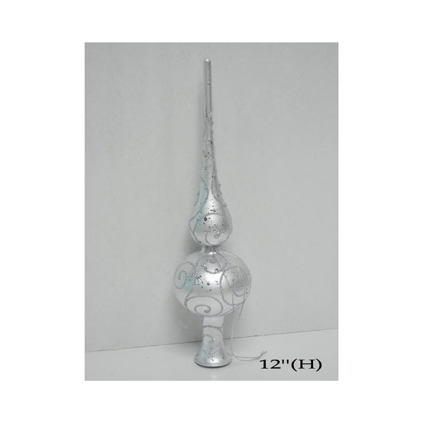 Christmas at Winterland WL-TOPPER-12-SLV 12 Inch Finial Tree Topper Silver
