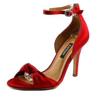 Kay Unger Conyer Women Open-Toe Canvas Red Slingback Heel
