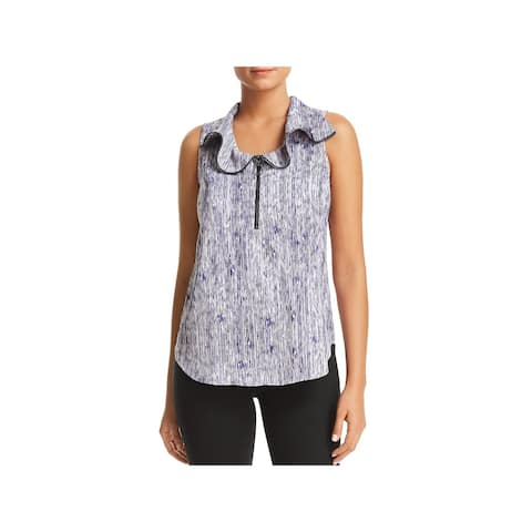 Kenneth Cole Womens Tank Top Printed Sleeveless