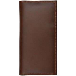 3D Wallet Mens Rodeo Leather Checkbook Card Slots Cognac W1018 - One Size