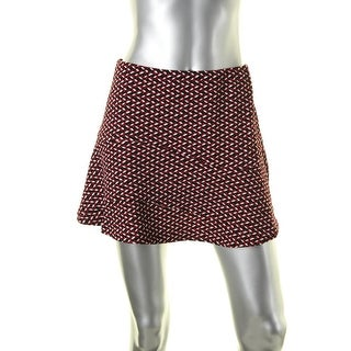 Aqua Womens Mini Skirt Printed Skater
