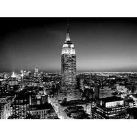 ''Empire State Building at Night'' by Henri Silberman New York Art Print (15.75 x 19.75 in.)