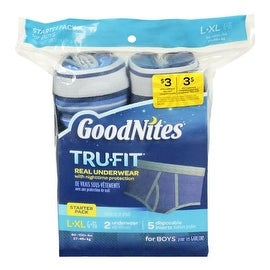 Goodnites Trufit Real Underwear for Boys, Starter Pack Size L-xl