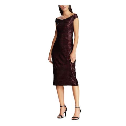 RALPH LAUREN Burgundy Below The Knee Dress 2
