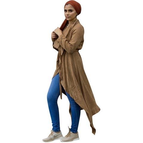 Verona Collection Womens Draped Cardigan Sweater