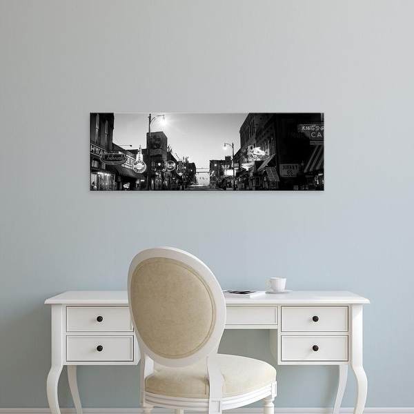 Easy Art Prints Panoramic Images's 'Buildings in a city at dusk, Beale Street, Memphis, Tennessee, USA' Canvas Art