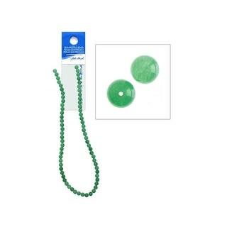 27600609 01 John Bead Sp 16 Aventurine 6mm Round Dyed Green