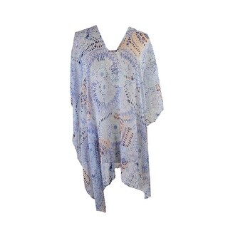 Cejon Blue Pink Printed Cover Up OS