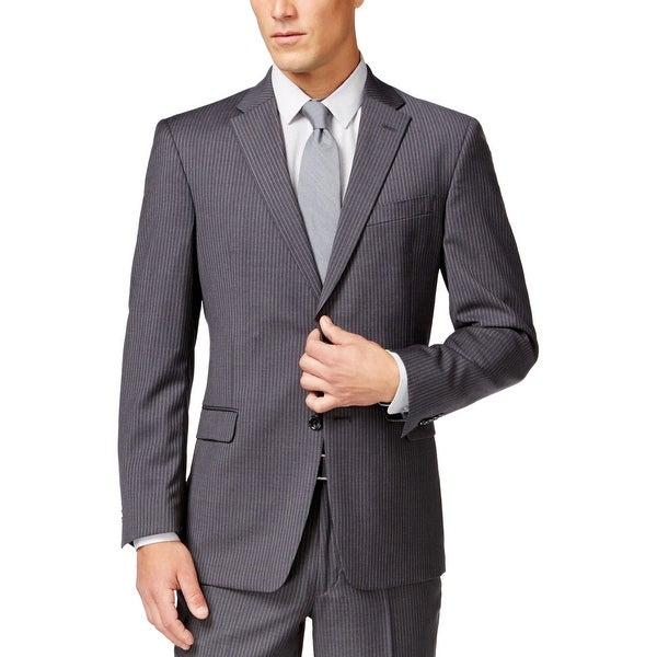 1744a53be0 Shop Tommy Hilfiger Mens Wool Striped Sportcoat 40 Regular 40R Grey Suit  Separate - Free Shipping Today - Overstock - 23006918