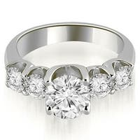 2.00 cttw. 14K White Gold Five Stone Floating Round Cut Diamond Engagement Ring