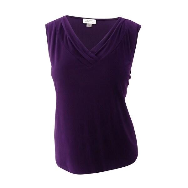 c00058cb66e Shop Tahari ASL Women s Plus Size Drape-Neck Shell Top (1X