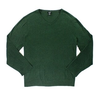 Alfani Alpine Green Mens Size Large L Slim Fit V-Neck Sweater