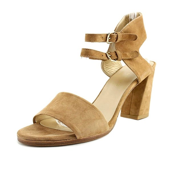 Stuart Weitzman Twoways Women Open Toe Suede Brown Sandals
