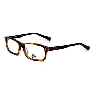 Nike Mens Eyeglasses NK7206-220 Black Tortoise Square Full Rim Frames