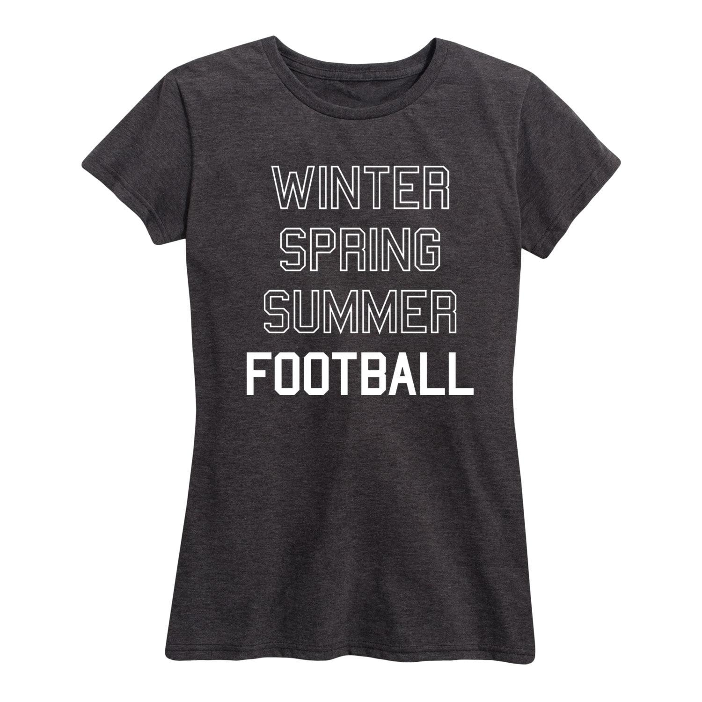 Winter Spring Summer Football LADIES SHORT SLEEVE CLASSIC FIT T-SHIRT