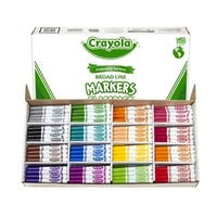 Crayola Original Broad Line Marker Classpack, Conical Tip, Assorted Colors, Pack of 256