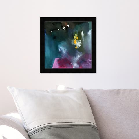 Oliver Gal 'Nebulosas' Abstract Wall Art Framed Print Paint - Purple, Blue