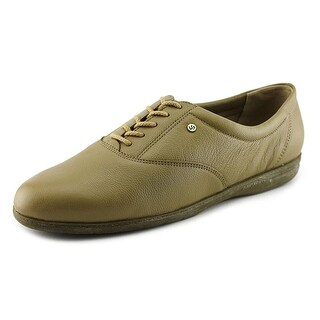 Easy Spirit Motion Women 2A Round Toe Leather Nude Oxford