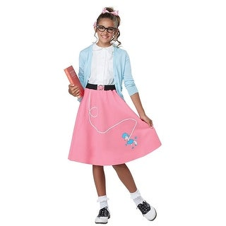 50's Poodle Skirt Child Costume, Pink