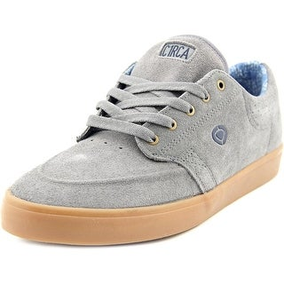 Circa Transit Men Round Toe Suede Gray Sneakers