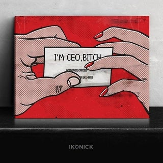 IKONICK I'm CEO. (Red) Canvas Art