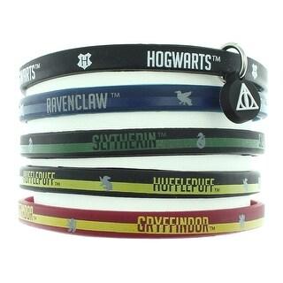 Harry Potter Books House Bracelet Hogwarts School Houses Rubber 5 Pack