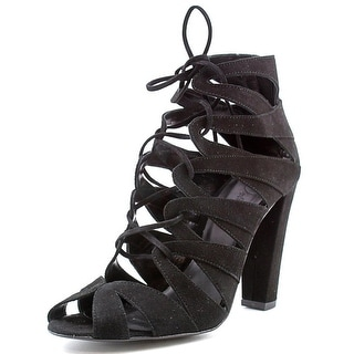 Delman Darci   Open Toe Suede  Sandals