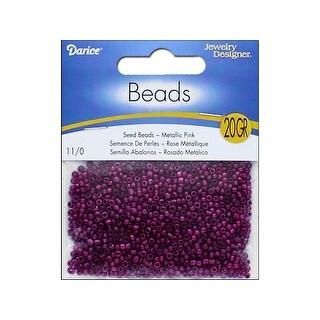 2002 21 Darice Jd Seed Bead 11 0 Metallic Pink