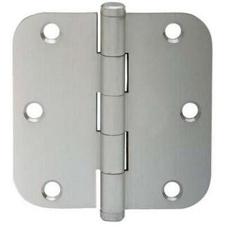 """Schlage SC3P1011F-619E Round-Corner Door Hinge, 3-1/2"""" x 3-1/2"""", Satin Nickel"""