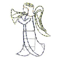 """42"""" Pre-Lit with 160 LED Angel Animotion Christmas Outdoor Decoration - WHITE"""