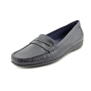 Walking Cradles Traveler-2 N/S Round Toe Leather Loafer