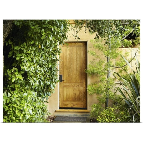 """Foliage surrounding door"" Poster Print"