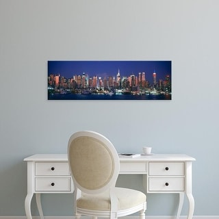 Easy Art Prints Panoramic Images's 'Skylines at dusk, Manhattan, New York City, New York State, USA' Canvas Art