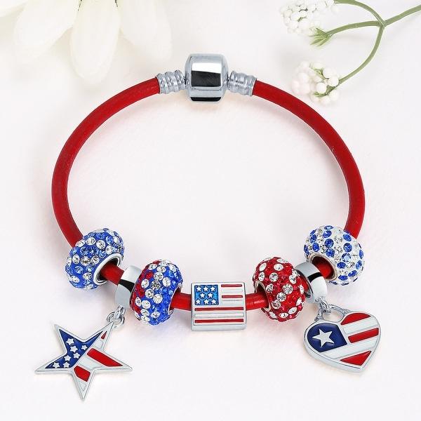 925 Sterling Silver Purple Field of Flowers Bead Fit European Charm Bracelet