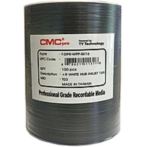 CMC Pro T-DPR-WPP-SK16 DVD+R 4.7 GB Inkjet Hub Printable Disks - (Refurbished)
