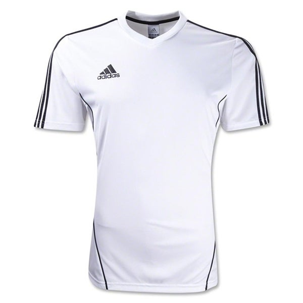 70db52afaab5 Adidas Boys Estro 12 Soccer Jersey T-Shirt White Black Size Youth - White