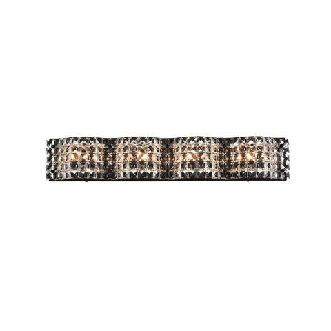 Odin 4 Light Bath Sconce with Clear Crystals