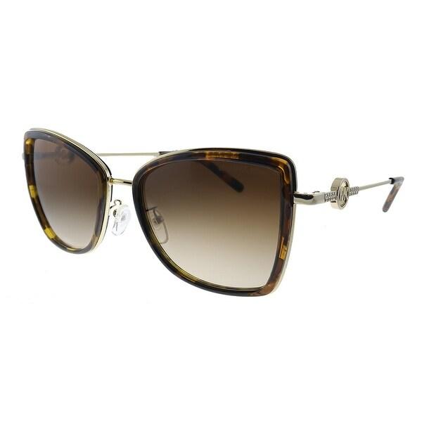 Michael Kors MK 1067B 101413 Womens Light Gold Dark Tortoise Frame Brown Gradient Lens Sunglasses. Opens flyout.