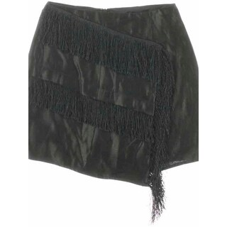 JOA Womens Mini Skirt Shimmer Fringe