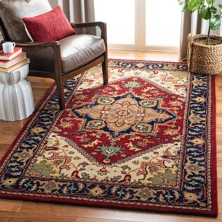 Link to Safavieh Handmade Classic Ethie Traditional Oriental Wool Rug Similar Items in Rugs