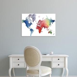 Easy Art Prints Grace Popp's 'Rainbow World' Premium Canvas Art