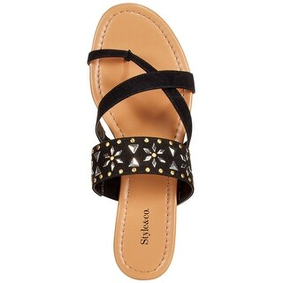 Style & Co. Womens Behati Split Toe Casual Slide Sandals