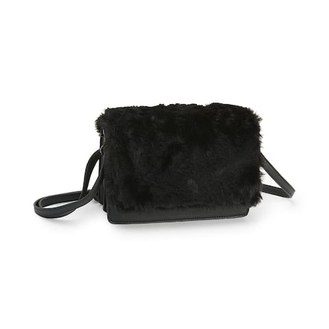 Aeropostale Womens Boxy Faux-Fur Cross Body Handbag Purse - One Size