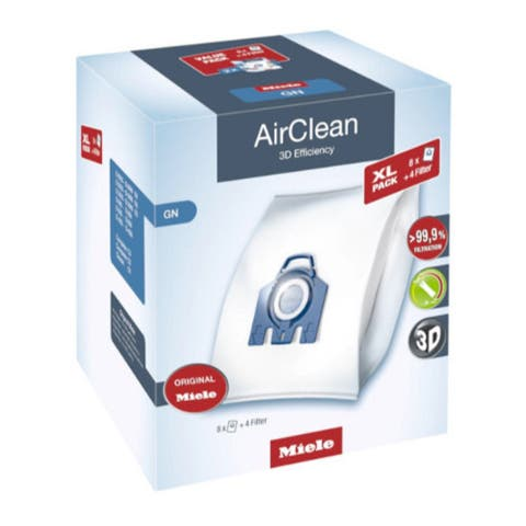 Miele AirClean 3D Efficiency Dust Bag, Type GN, 8 Bags and 4 Filters