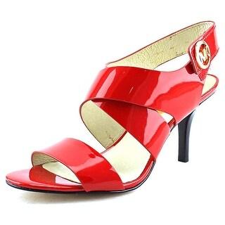 Michael Michael Kors Joselle Open Toe Women Open Toe Patent Leather Red Sandals