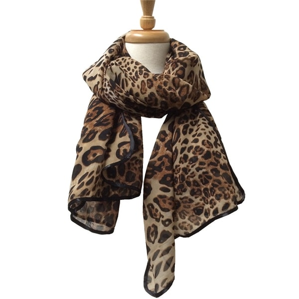 Women's Lightweight Animal Printed Soft Large Wrap Scarves